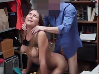 Timid Teen Thief Gets Fucked By A Corrupt Lp Offricer