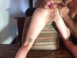 Slave Ruby Anal Toy Squirt Part 1