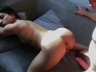 Horny Teen Goes To Visit A Neighbor To Fuck Her Tight Pussy