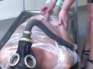 4 Doms Dominate Patient With Latex