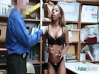Ebony Hottie Gets Drilled From Behind