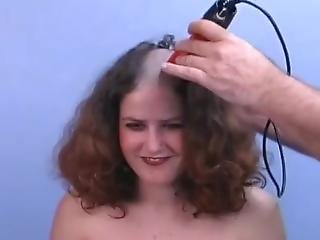 Hot Curly Hair Girl Sheered