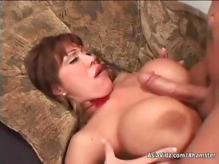 Huge Titted Oriental Porn Star In Hot Red Limo Suck And Fuck