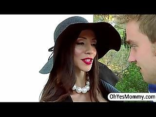 Milf Ariella Lures A Guy For Oral Sex Then Angel Joins For Threesome