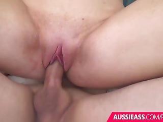 Australian Blonde Girl Has Pussy Filled With Cream Pie Cum Shot