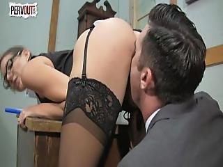 Kinky Boss Sadie Holmes Femdom Handjob Blowjob