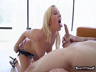 Bailey Swallows The Cock And Tastes Cum