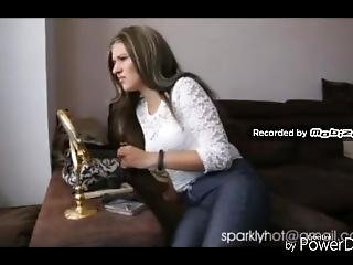 Girl Farting On Sofa Very Stink