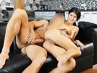 Hunt4k. Slim Brunette Fucked By Guy In Front Of Her Nerdy Cuckold