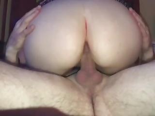 amatør, blowjob, brunette, tissemand, finger, kneppe, handjob, milf, hustru