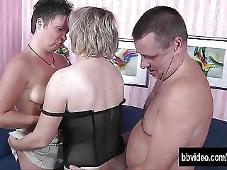 German Couple Fucking With A Mature Bitch