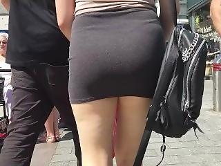 Candid - Sexy Tight Mini Skirt Ass