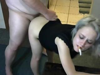 Blonde Smoking And Getting Fucked