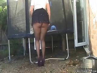 Ass, Booty, British, Butt, Flashing, Heels, Milf, Nylon, Outdoor, Panties, Pantyhose, Public, Skirt, Tight, Upskirt, Wife