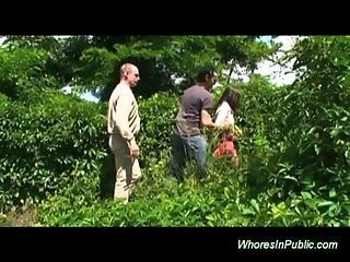 Nature, Outdoor, Public, Threesome, Whore