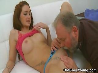 Old Goes Young   Donna Is A Brunette With A Secret Obsession For Older Men