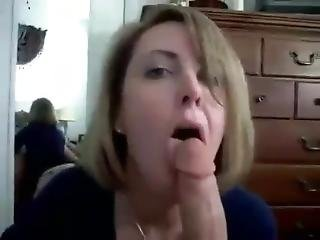 Hot Amateur Milf Sucks On A Big Cock