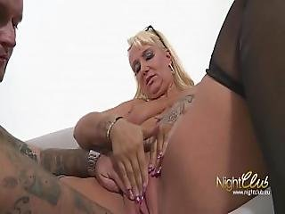 German Tattoo Milf Fucked And Cum On Glasses