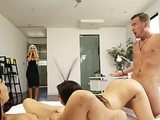Brunette Beauty Karlee Grey Is Extremely Horny For Threeway Sex