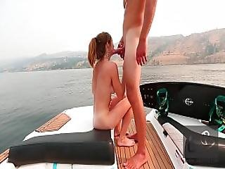 Tiny Redhead Fucks On The Boat On A Smoky Day