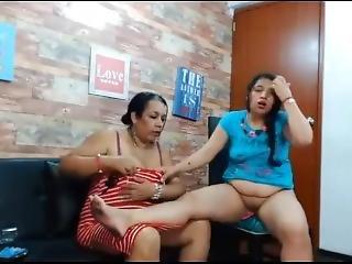 Daughter Strips Mom Webcam