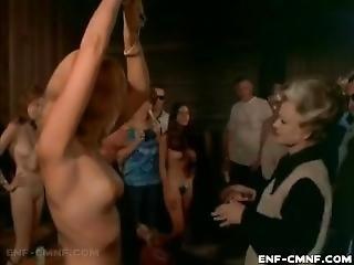 Bondage, Milf, Público, Escrava, Vintage