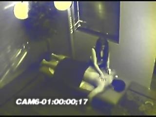 security cam catches sex act