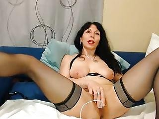Hot 50 Year Old Milf Teasing On Webcam