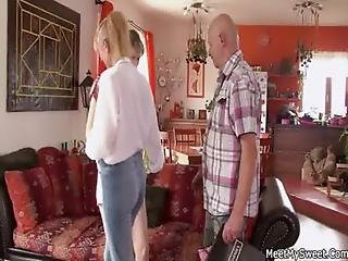 Old Couple Seduce Teen And Bang Her