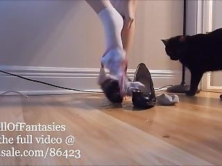 Pissing In Heels, Socks, Panties On Wooden Floor (teaser)