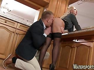 Fetish Bitch Pissed On