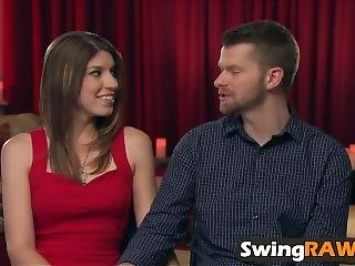 Horny Couple Trying New Things In Swinger Show
