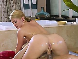 A Horny Man Is Here For A Massage But Abby Cross Is Ready To Give Much More To Him