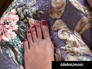 Sensual Milf Julia Ann Paints Her Toenails And Shows Sexy Feet