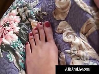 Sensual Milf Julia Ann Paints Her Toenails And Shows Sexy Feet