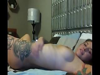 Felicity Feline Masturbates With A Huge Dildo On Webcam