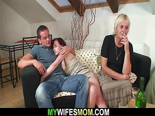 She Leaves And He Fucks Very Old Blonde Motherinlaw