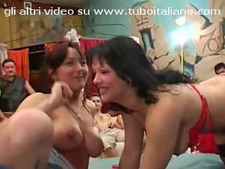 Natasha Kiss And Jessica Massaro Italian Gangbang