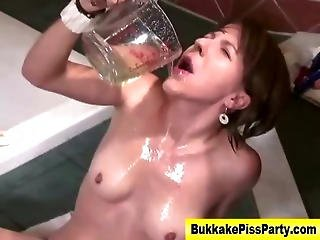 Watersports Fetish Slut Ass Fuck Piss Shower