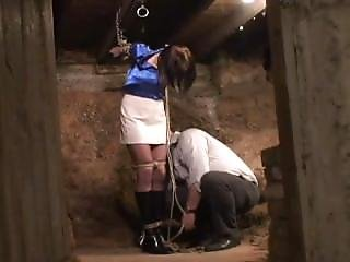 Strappado Bondage In Basement