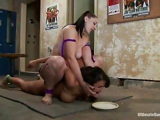 A Humiliating Punishment For The Loser ---- Wrestling Lezdom