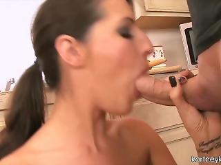 ejaculação, cozinha, milf, estrela porno