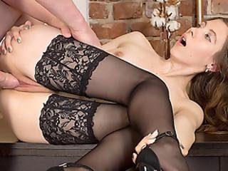 Slim And Sensual Erica Rose Has Her Pussy Reamed By A Thick Cock