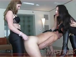 Mistress T And Goddess Alexandra Snow - Ass To Mouth Spit Roast