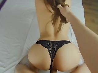 Brunette Teen Sucks Cock Before Her Tight Pussy Fucked Doggystyle Pov