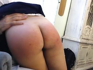 Step Daughter With A Tight Ass Spanked For Being Naughty