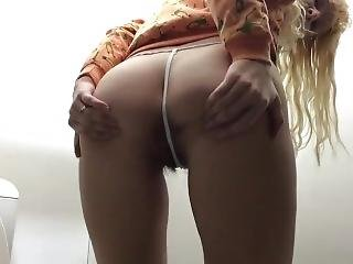Blonde Teen Public Farting