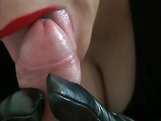 Gloved Mistress Blowjob