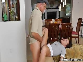 Amateur Call Me Daddy And Old Sauna Riding The Old Wood!