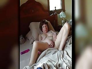 Amatorski, Ukryta Kamera, Masturbacja, Orgazm, Wibrator, żona